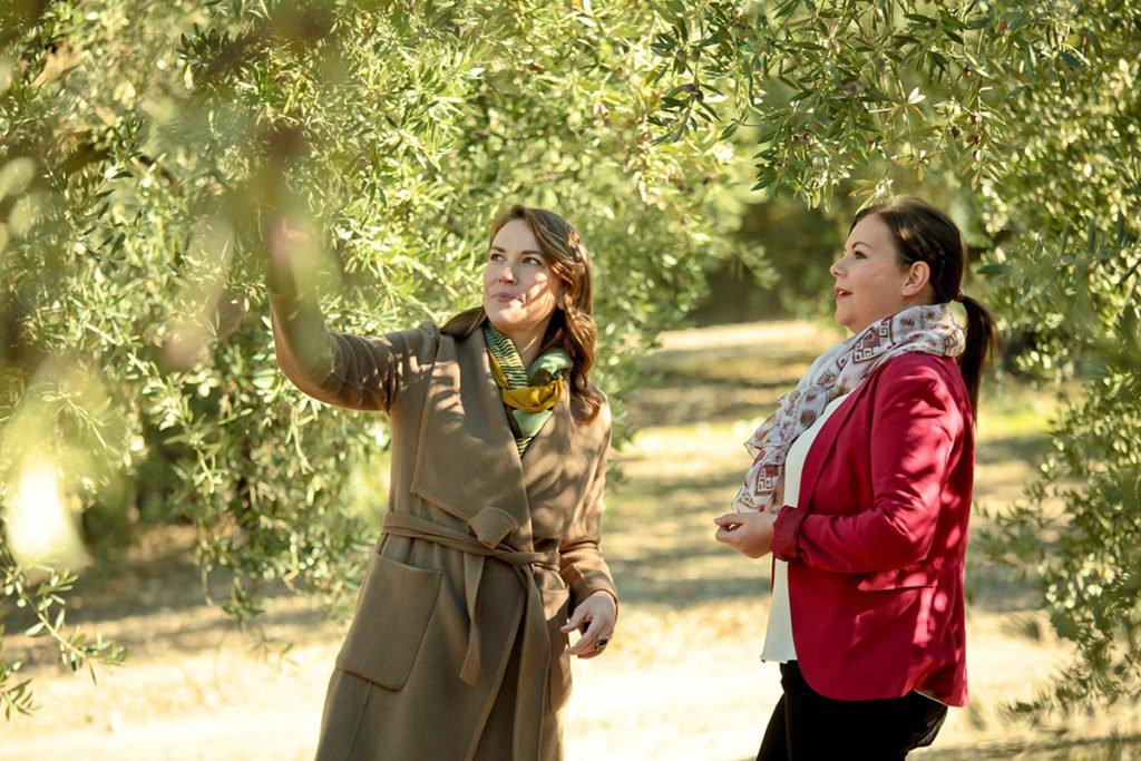Joanne Lacina with Sonia Sanchez in Carcabuey, Córdoba.