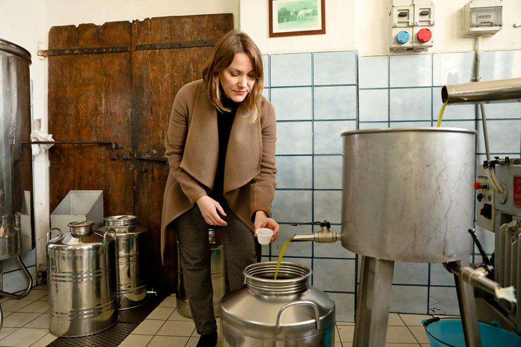 Joanne Lacina in Spoleto, Umbria.