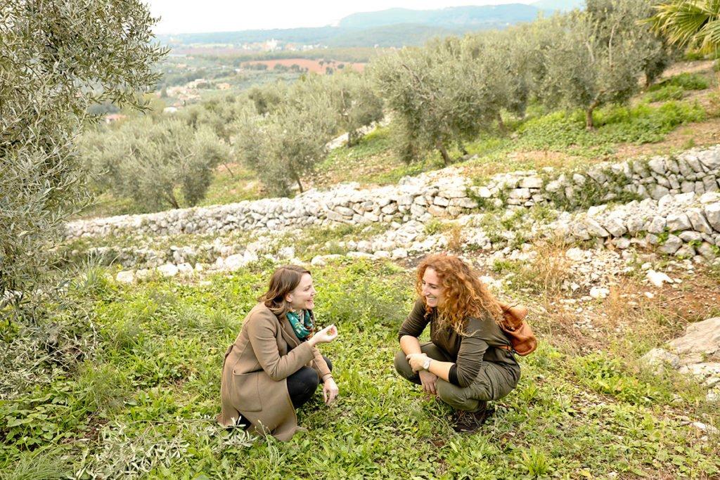 Joanne Lacina with Lucia Iannotta in Sonnino, Lazio.