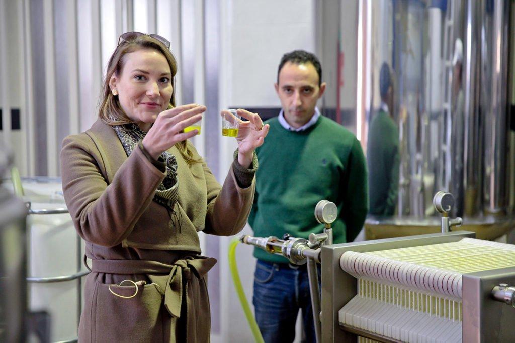 Joanne Lacina with Alberto del Moral in Luque, Córdoba.