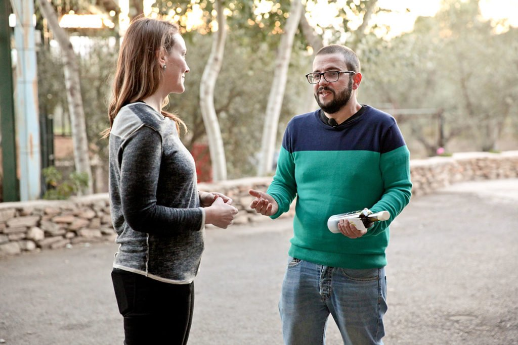 Joanne Lacina with Rafael Alonso Barrau in Tabernas, Almería.