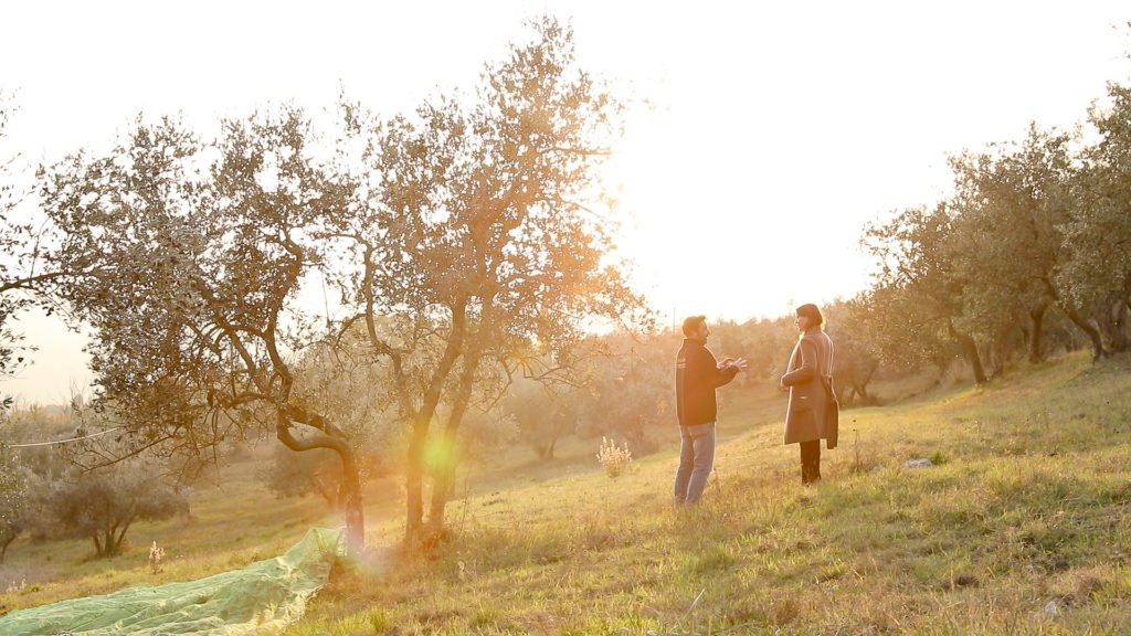 Joanne Lacina with with Gionni Pruneti in Greve in Chianti, Tuscany.