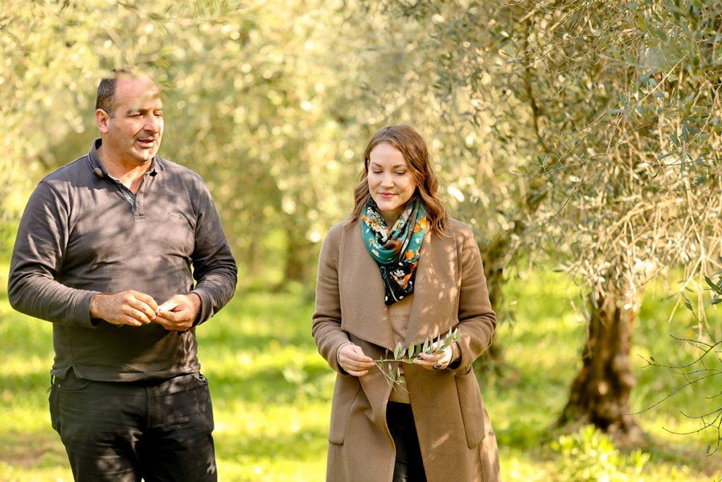 Joanne Lacina with Americo Quattrociocchi in Alatri, Lazio.