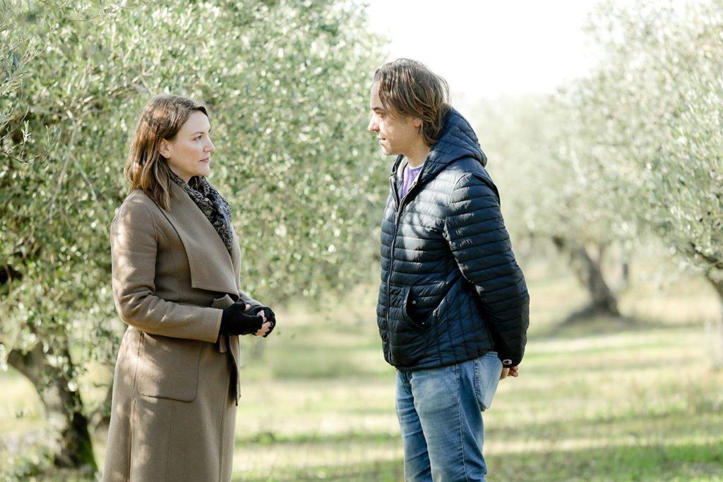 Joanne Lacina with Marco Viola in Sant'Eraclio di Foligno, Umbria.